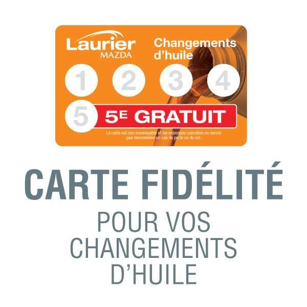 Carte fidélité – Changements d'huile