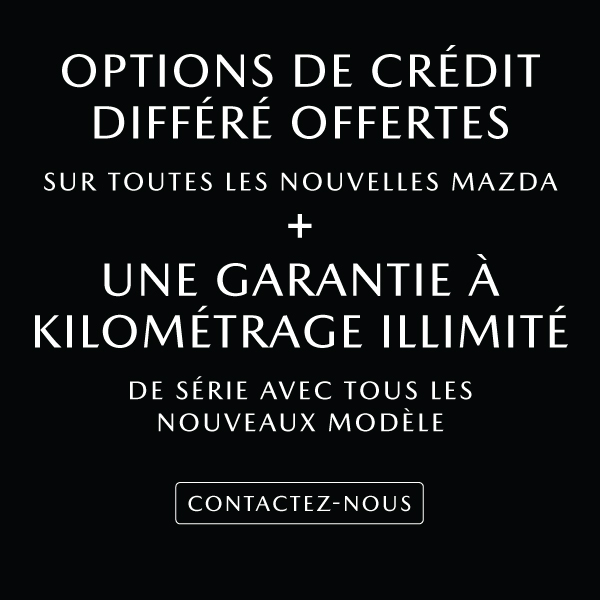 Options de crédit différé offertes